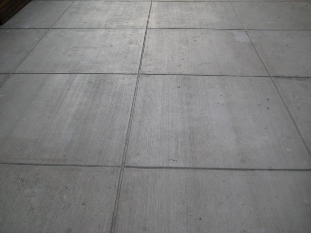 Colored Concrete Slab With Broom Finish And Colored