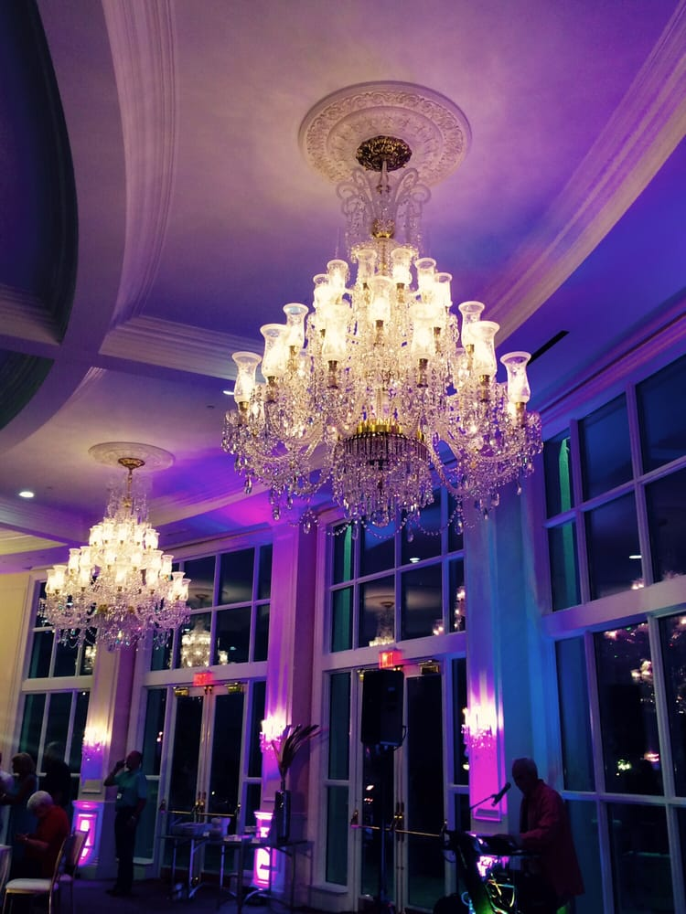 The Crystal Ballroom & Terrace. These chandeliers were ...