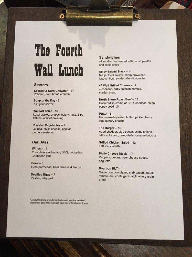 4th Wall Restaurant & Bar: 228 Tremont St, Boston, MA