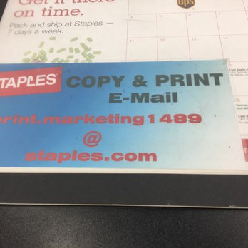 Staples Photos Reviews Shipping Centers Telegraph - Can you print from email at staples