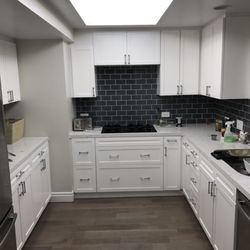 Photo Of Custom Wood Finishing And Paint   Los Angeles, CA, United States.  White Lacquer Refinished Kitchen