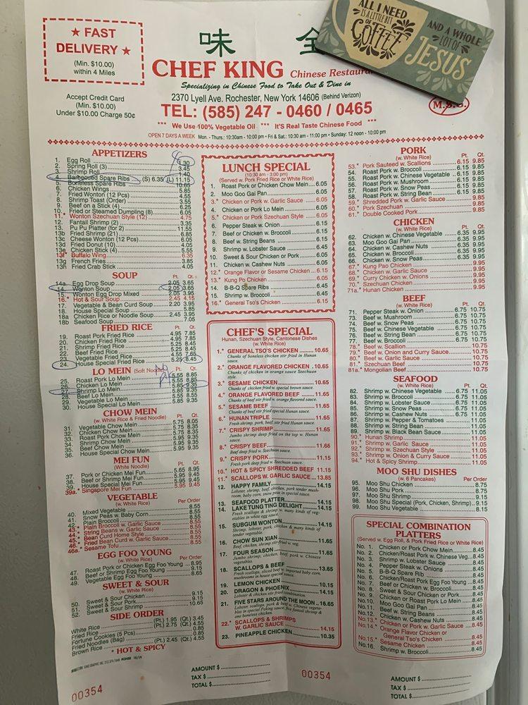 Chef King: 2370 Lyell Ave, Rochester, NY