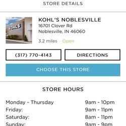 Kohls Noblesville 16 Reviews Department Stores 16701 Clover