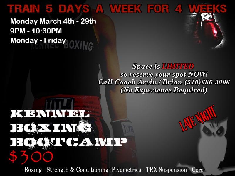 Boot camp - (Boxing, Strength & Conditioning -Plyometrics
