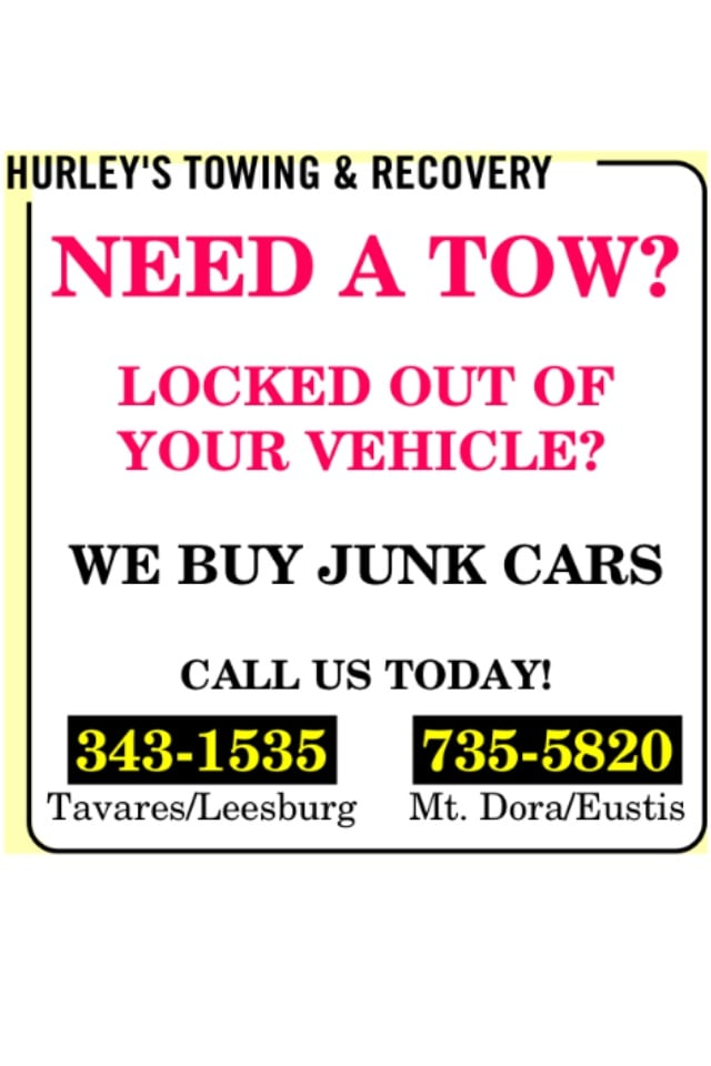 Hurley's Towing & Recovery: 31121 Industry Dr, Tavares, FL