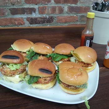Photo Of The Brooklyn Kitchen   Brooklyn, NY, United States. Salmon Burger  Made