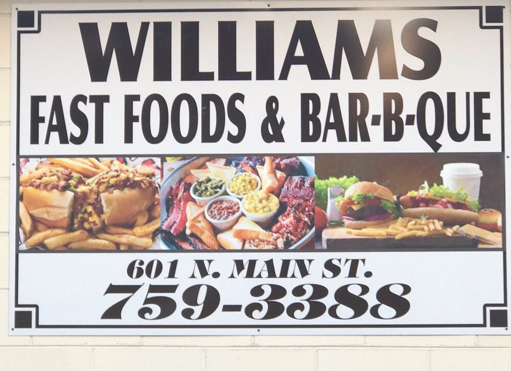 Williams Fast Foods: 601 Main St, Rosedale, MS