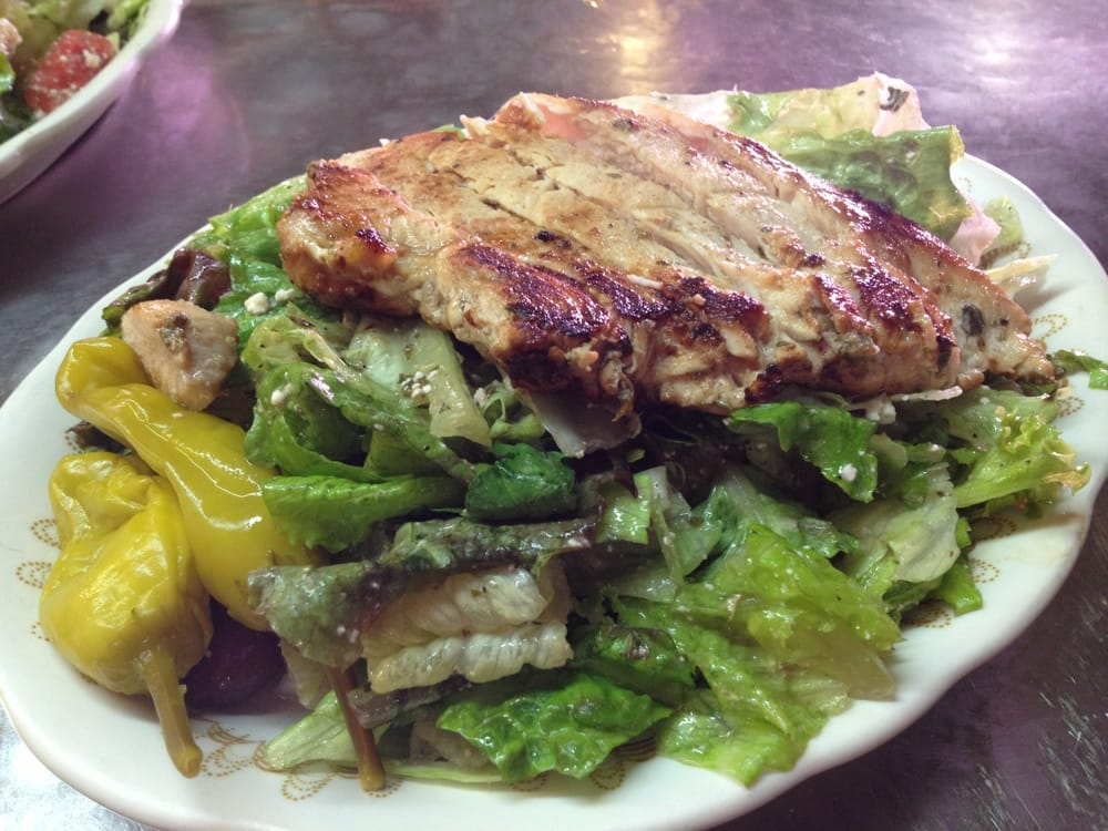 Chicken Souvlaki salad - Yelp