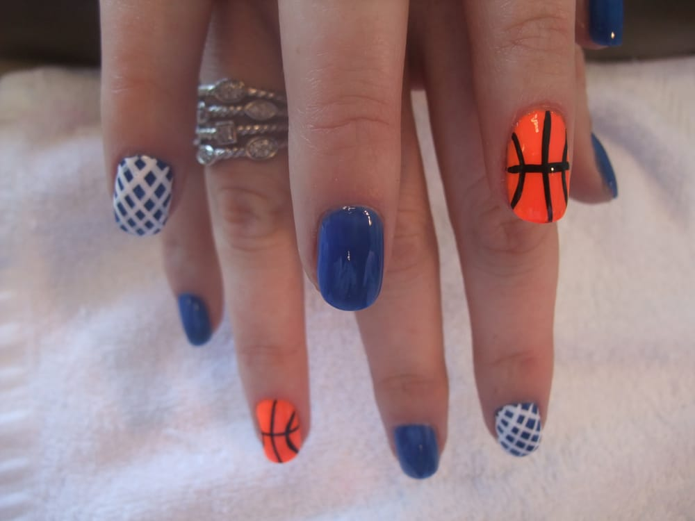 Photo of Brilliant Nails & Spa - Laguna Woods, CA, United States. Basketball - Basketball Nail Art Design - Yelp