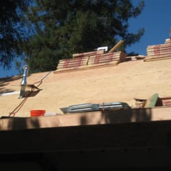 Photo Of Final Touch Roofing Valley Village Ca United States Sheathing Being