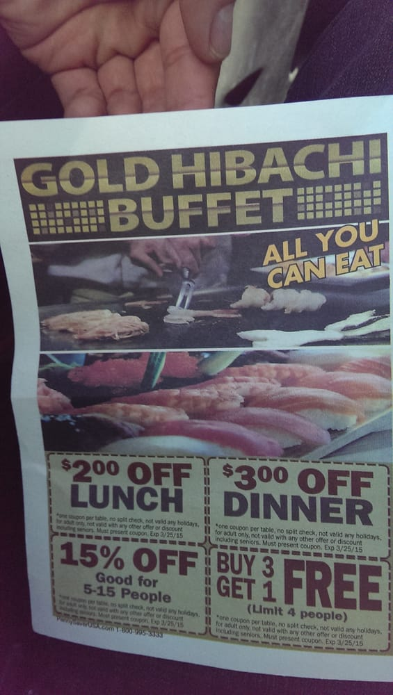Alhambra Gold Hibachi Ayce Buffet Flyer  Promotional Discount