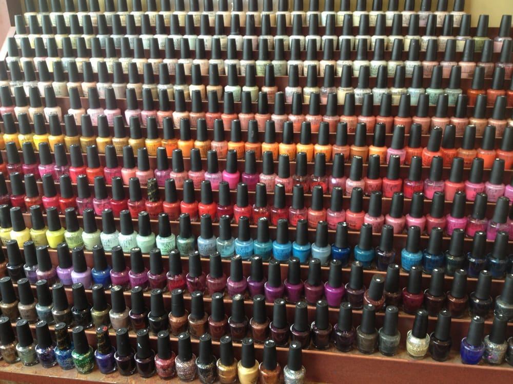 One Of The 2 Nail Polish Walls Opi And Essie Yelp
