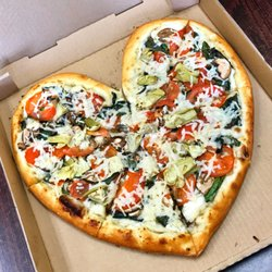 photo of vegan pizza garden grove ca united states heart shaped pizza - Pizza Garden
