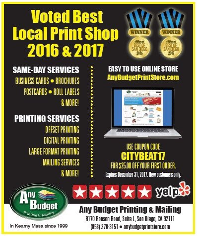 any budget printing & mailing voted best local print shop in san ...
