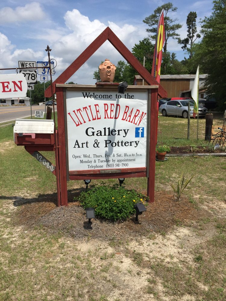 Little Red Barn Pottery Art & Antiques: 12080 US Highway 278, Barnwell, SC