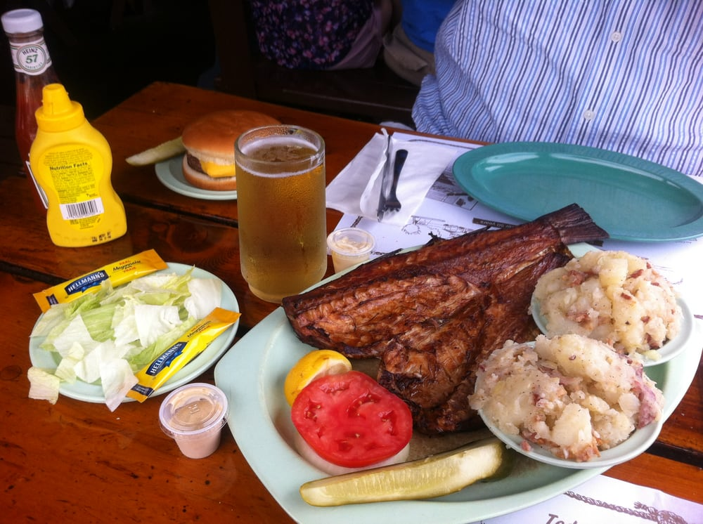 What your order should be a smoked mullet dinner platter for Ted peters smoked fish