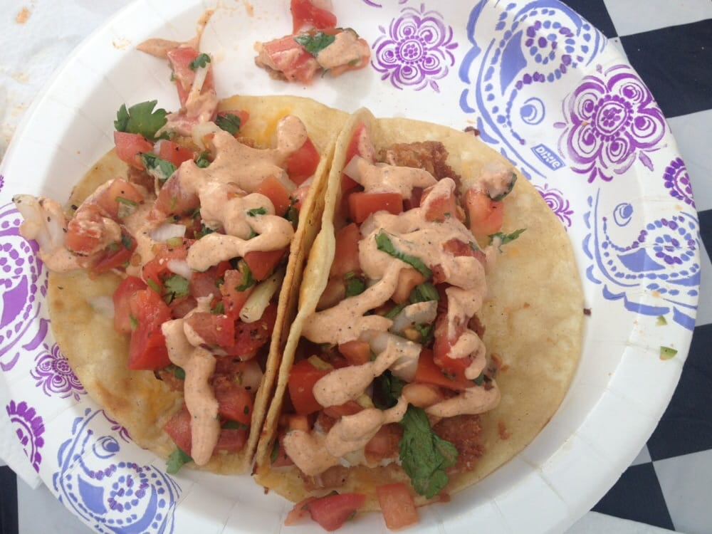 Fried fish tacos with the most amazing sauce yelp for Fish tacos near my location