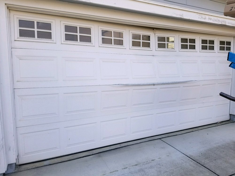 My Garage Door Before The Top Caved In On Itself Crushing The