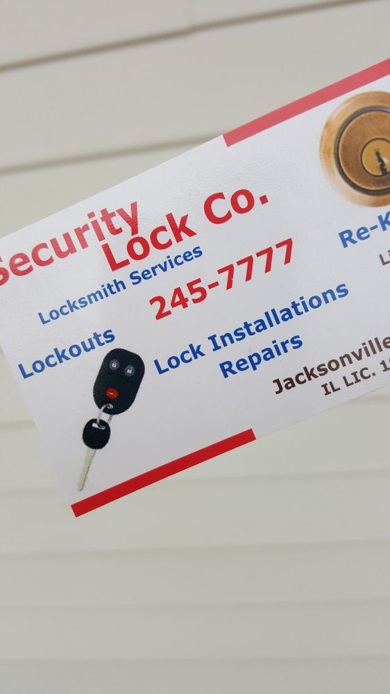 Security Lock Company: 528 Hardin Ave, Jacksonville, IL