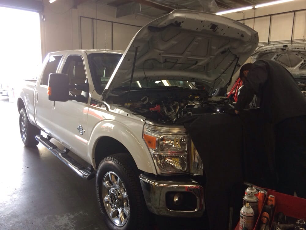 Charlie Making A Repair To The Egr System On A Ford F250 Diesel Yelp