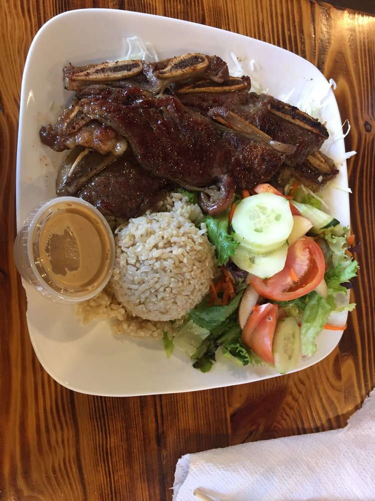 Combo 1 short ribs yelp for Island fish grill