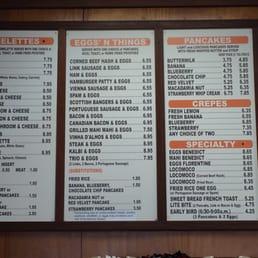 Koa pancake house kapolei menu design
