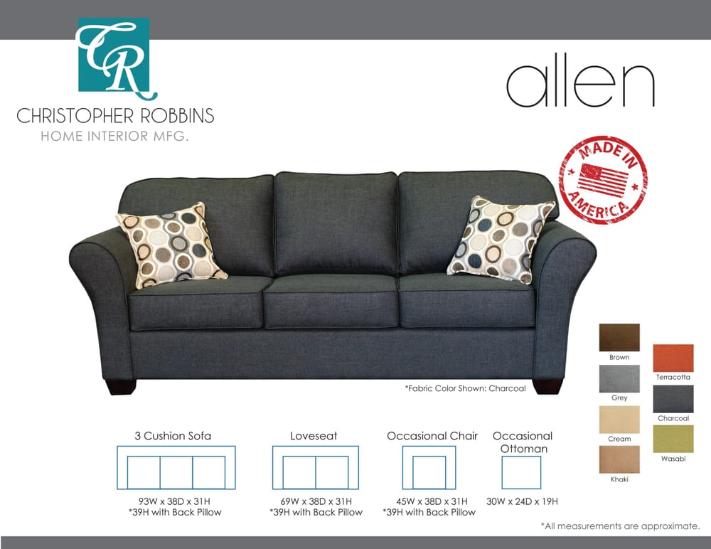 Christopher robbins allen sofa exclusive product only at for Affordable furniture la