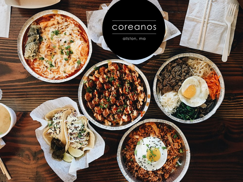 Food from Coreanos Allston