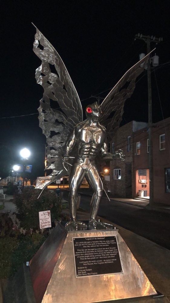 Mothman Statue: 4TH St, Point Pleasant, WV