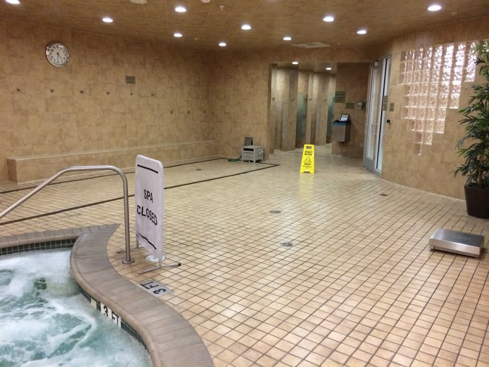 Hot tub showers and steam room in men male only locker