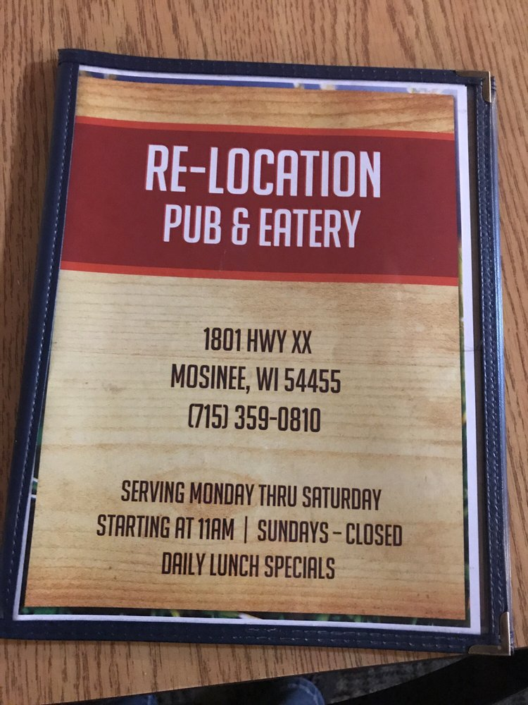 Relocation Pub & Eatery: 1801 County Rd XX, Rothschild, WI