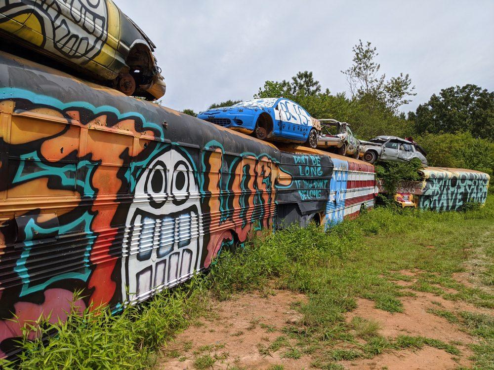 School Bus Graveyard: 185 Alonzo Wade Rd, Alto, GA