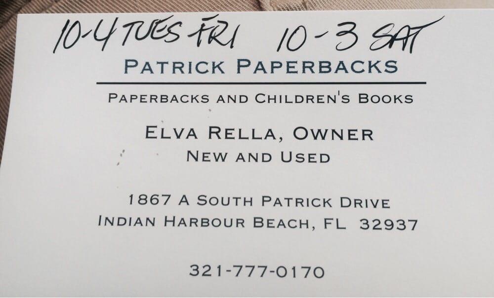 Patrick Paperbacks: 1867 A S Patrick Dr, Indian Harbour Beach, FL