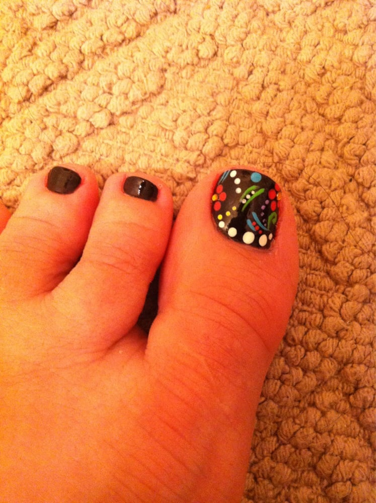 Dia de los muertos style toe nail design by tina yelp photo of campbell nails spa campbell ca united states dia de prinsesfo Images