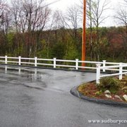 Chestnut Hill Style Photo Of Sudbury Cedar Fence Ma United States 2 Rail Vinyl