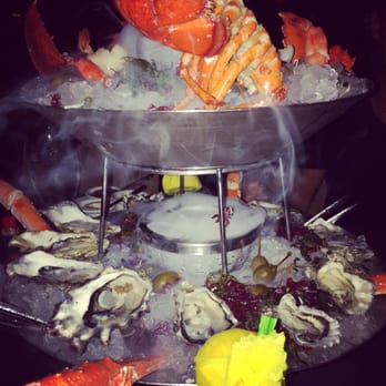 2 tier seafood tower  Lobster, king crab legs, 2 types of