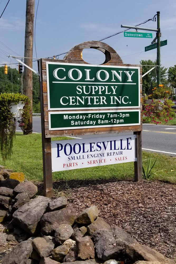 Colony Supply Center: 19800 Darnestown Rd, Beallsville, MD