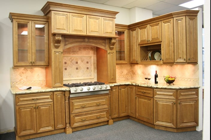 Cinnamon glaze kitchen cabinets yelp for Bathroom cabinets yelp