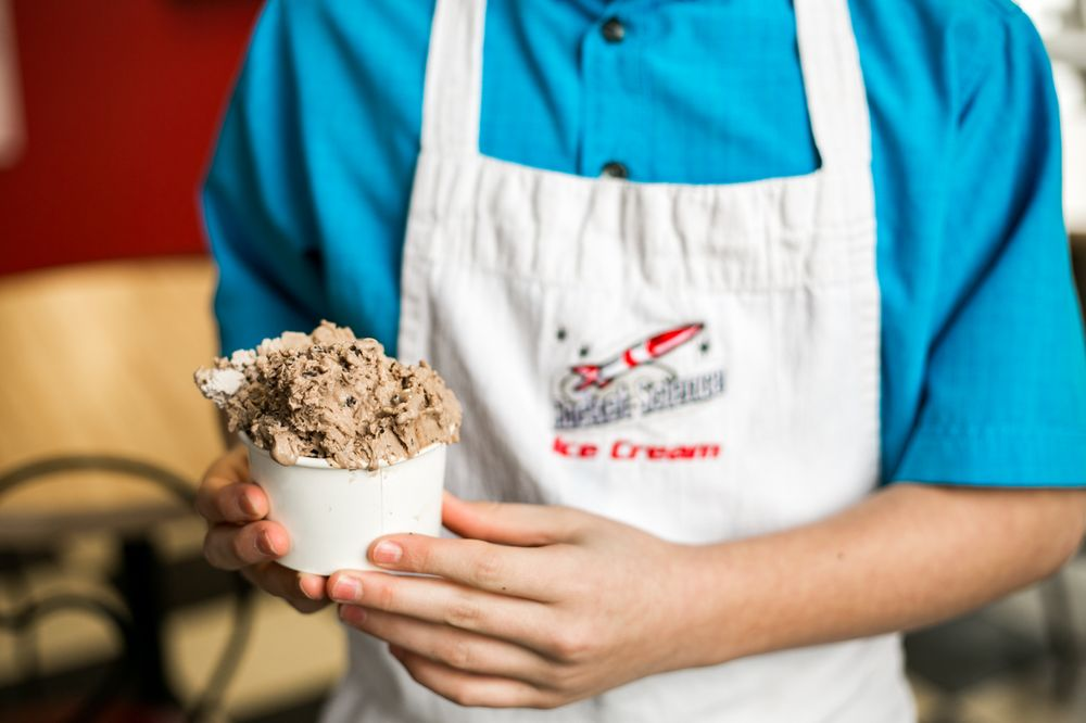 Rocket Science Ice Cream: 401 E Market St, Nappanee, IN