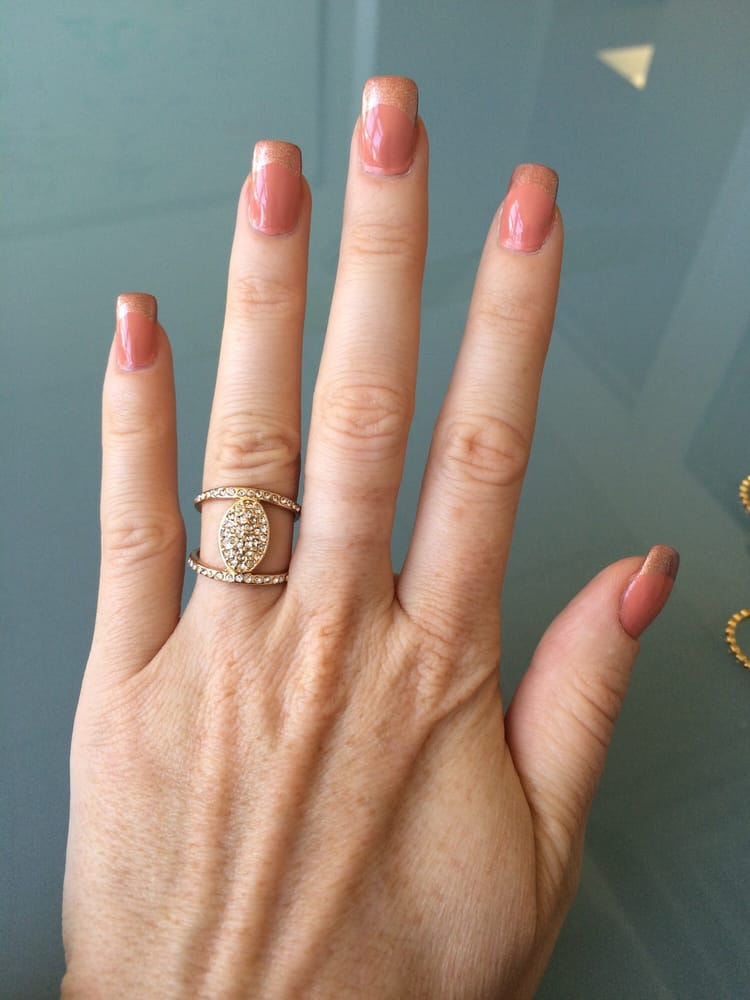 Love Coco Nails! Glue/gel french mani with Opi\'s A Great Opera ...