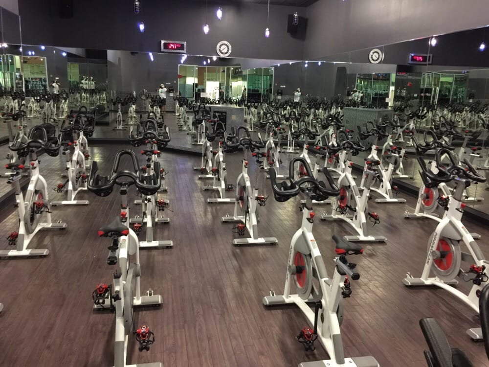 Room full of new spin bikes yelp