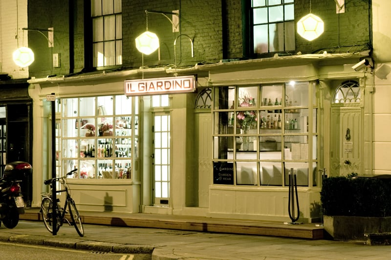 Il Giardino Restaurant: 119 Sydney St, London, XGL
