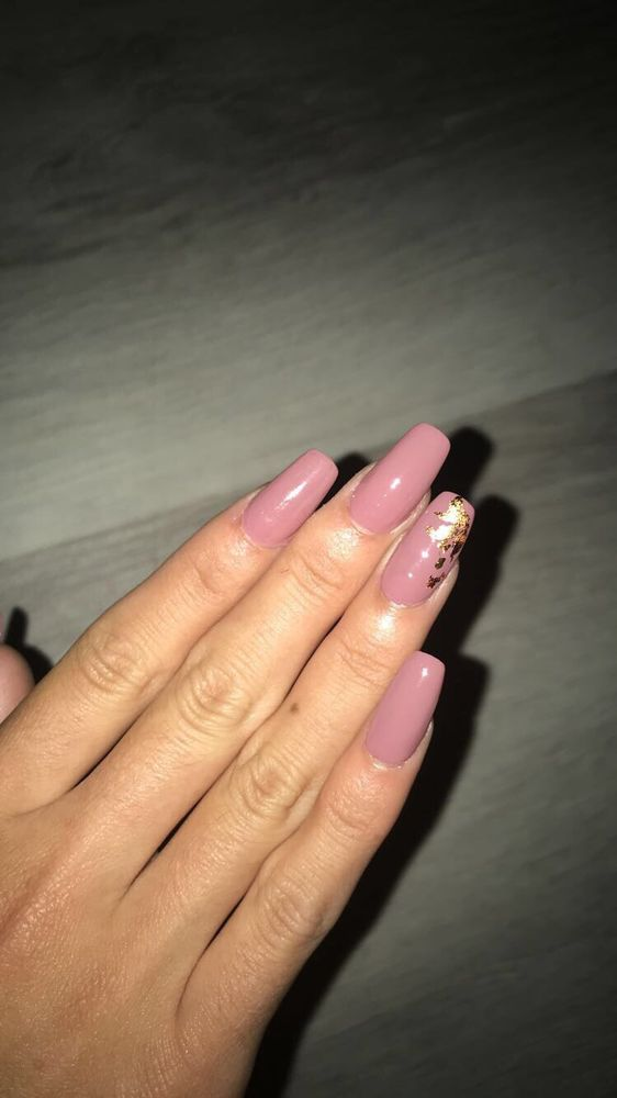 Mauve Pink With Rose Gold Flakes Yelp