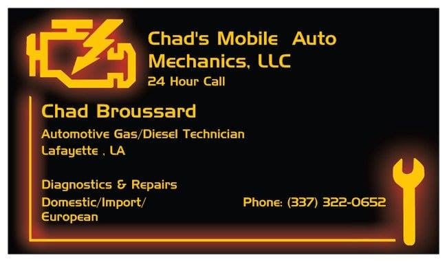 Chad's Mobile Auto Mechanics: Lafayette, LA