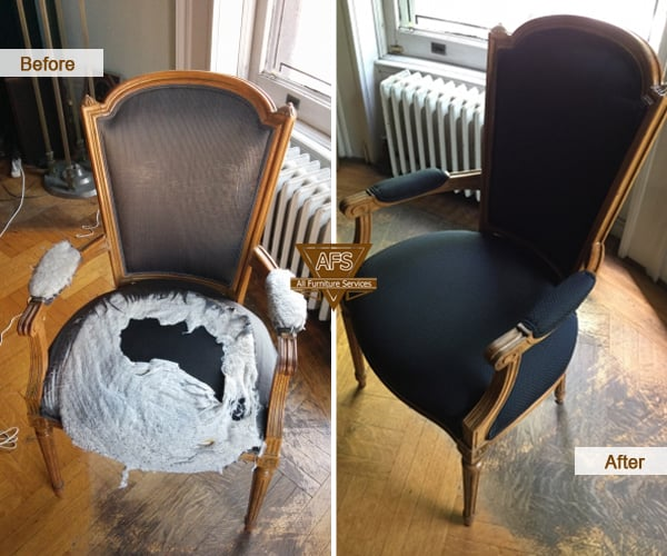 Antique Chair Upholstery Padding Spring Webbing Straps Restoration