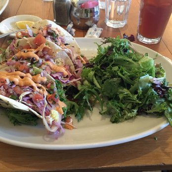 Photo of Beehive Restaurant - Armonk, NY, United States. Blackened  swordfish tacos