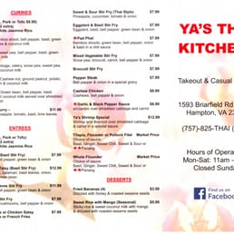 Photos for Ya\'s Thai Kitchen | Menu - Yelp