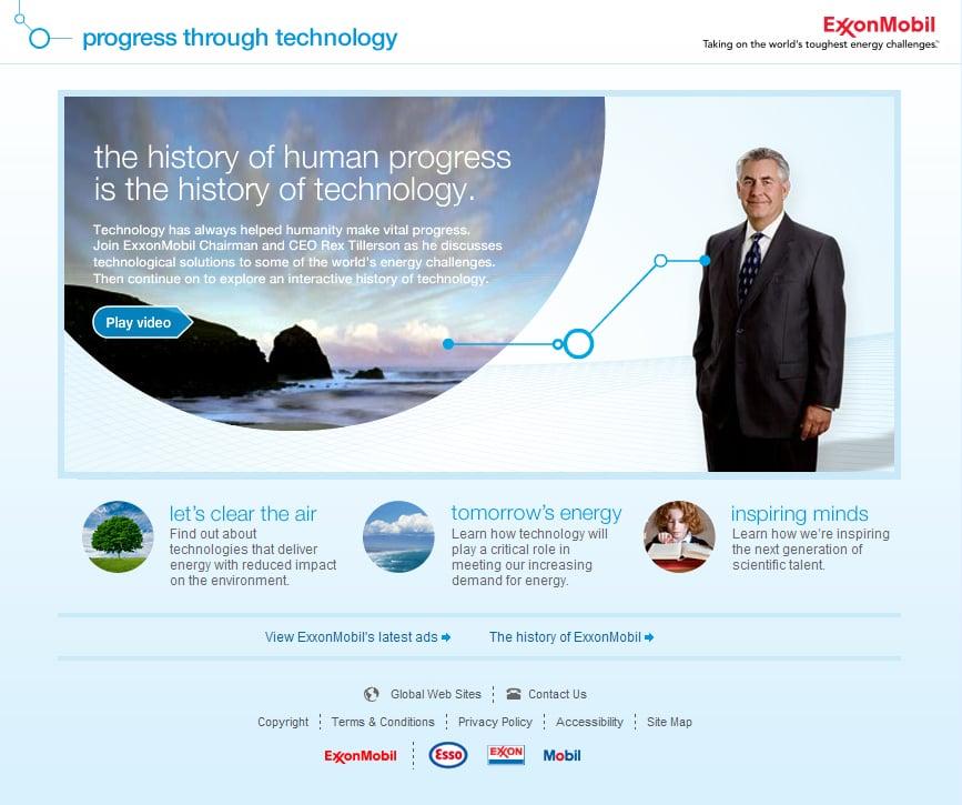 ExxonMobil Progress Through Technology (5) minisites - Yelp