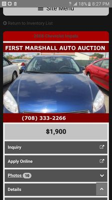 first marshall auto auction 398 e sibley blvd harvey il auto dealers used cars mapquest. Black Bedroom Furniture Sets. Home Design Ideas