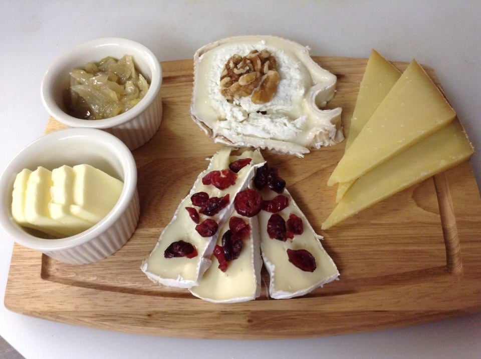 Photo of The French House - Lake Worth FL United States. French cheese & French cheese platter for 2 (goat cheese brie cheese and comte ...